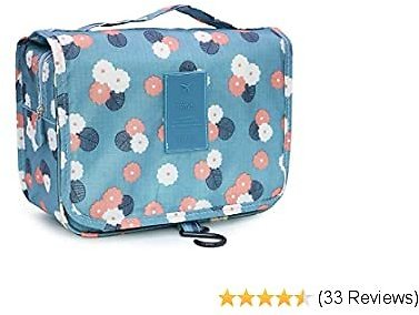 BEWAVE Makeup Bag for Women Girl, Bigger Toiletry Case Cosmetic Bags for Travel with Hook