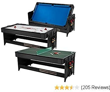 #Fat #Cat #Original 3-#in-1 7' #Pockey #Multi-#Game #Table, #Play #Pool, #Air #Hockey #and #Table #Tennis
