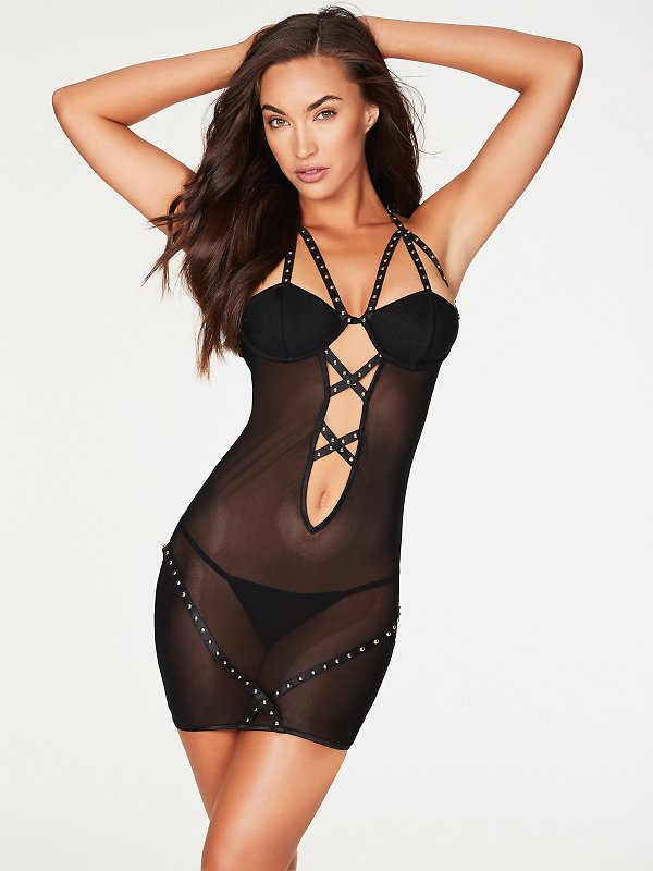 Lorelli Fishnet And Stud Chemise FINAL CLEARANCE