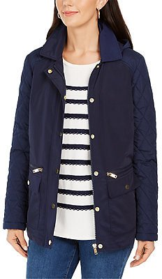 Charter Club Quilted Hooded Jacket, Created for Macy's & Reviews - Jackets & Blazers - Women