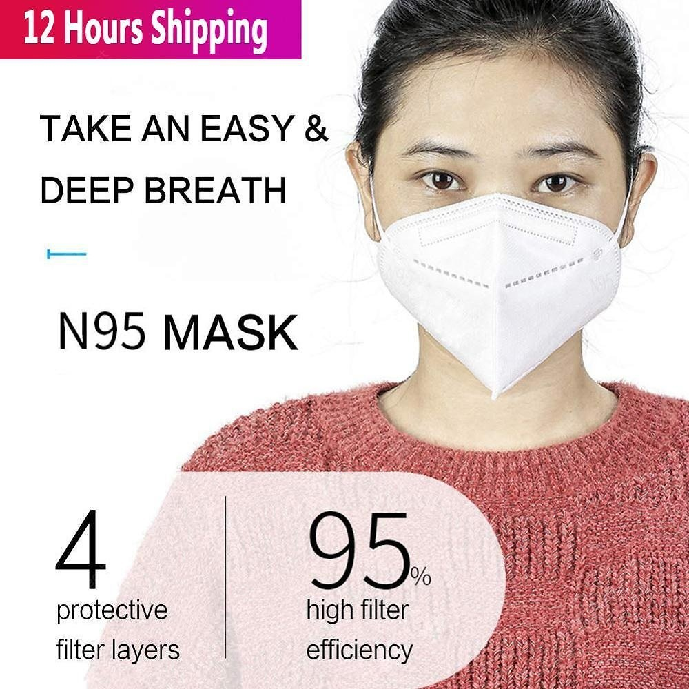 50Pcs Virus Mask Meets FFP2 N95 KN95 KF94 Guidance -Fast Delivery Sale, Price & Reviews   Gearbest