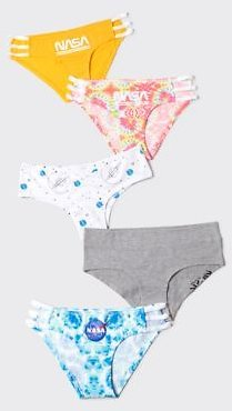 5-Pack NASA Cheeky Bikini Undies
