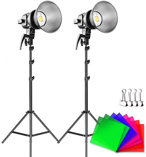 GVM LS-P80S LED 2-Light Kit with Filters