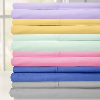 Luxurious Ultra Soft 6-Piece Bed Sheet Set Full Size in Size Yellow (As Is Item)