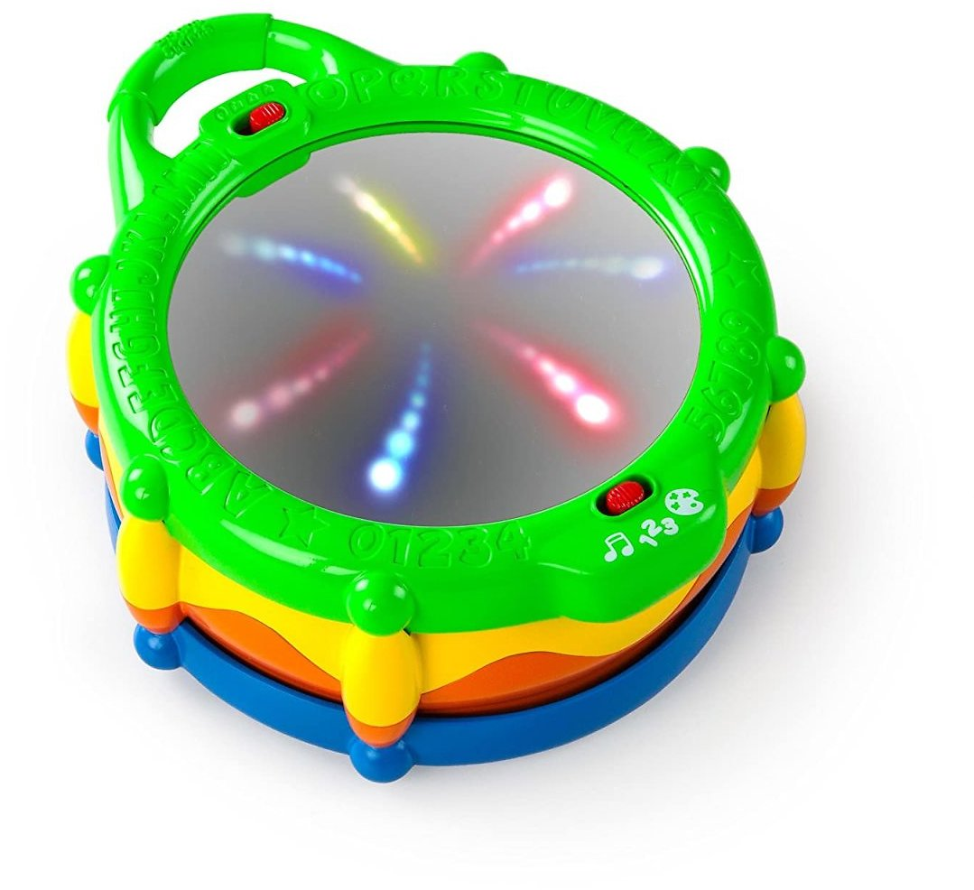Bright Starts Light & Learn Drum with Melodies, Ages 3 Months+, Toys for Kids