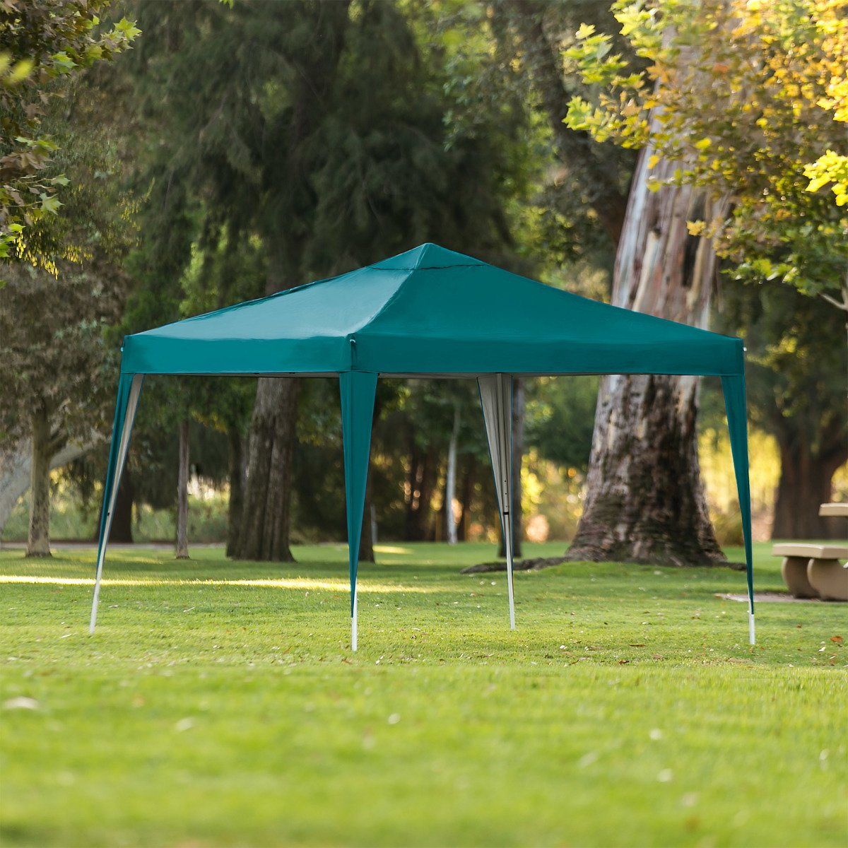 Best Choice Products Outdoor Portable Adjustable Instant Pop Up Gazebo Canopy Tent w/ Carrying Bag, 10x10ft - Green