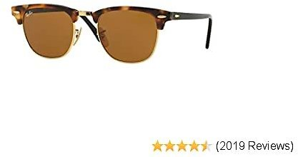 Ray-Ban Unisex-adult Rb3016 Clubmaster Square Sunglasses Square Sunglasses