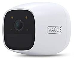 VACOS Outdoor Security Camera, Wireless Rechargeable Battery 1080P Video, Color Night Vision, AI Human + PIR Motion Detection, 2-Way Audio | Work with Alexa | 16GB Local Cloud Storage