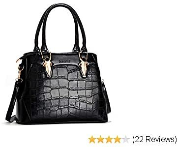 Nevenka Women's Handbags PU Leather Ladies Tote Bags with Adjustable Shoulder Strap and Tassel for Daily Use Shopping Travel