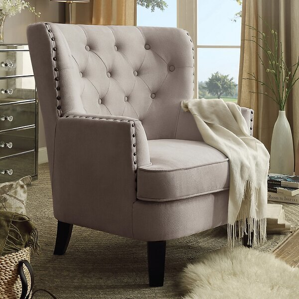 Laurel Foundry Modern Farmhouse Ivo 30-in Wingback Chair
