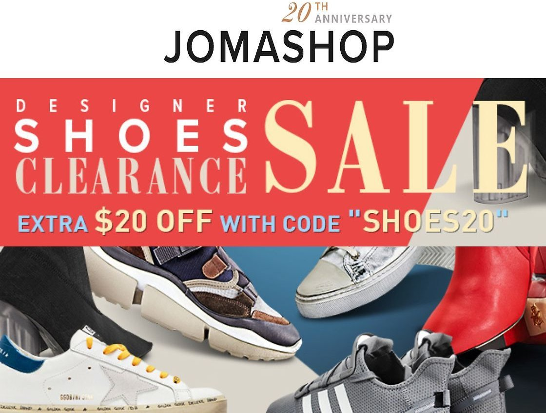 Up to 75% Off Shoes & Sneakers Blowout + Extra $20 Off + Free Shipping