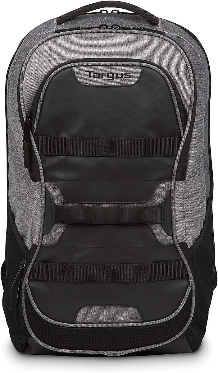 Targus Large Commuter Work and Play Large Gym Fitness Backpack with Protective Sleeve for 15.6 Inch Laptop
