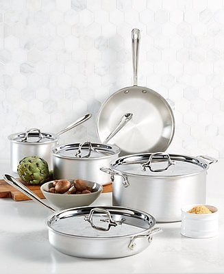All-Clad Master Chef 9-Pc. Cookware Set (Ships Free)