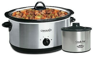 Crock-Pot 8 QT Slow Cooker With Dipper Stainless Steel