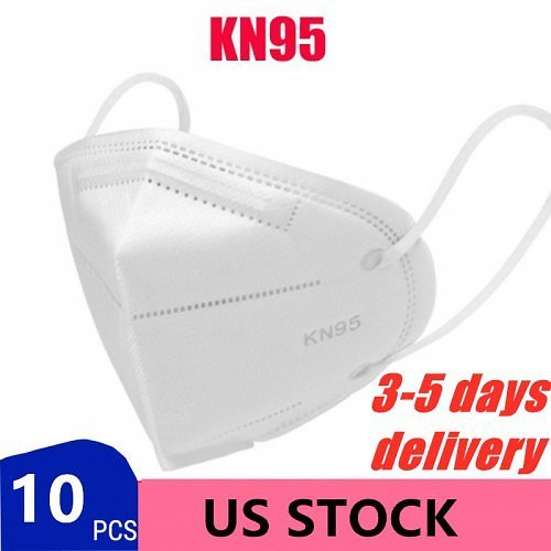 KN95 Mask FFP2 Disposable Protective Safety Filtration Dustproof Particulate Non-Medical Masks United States 10Pcs