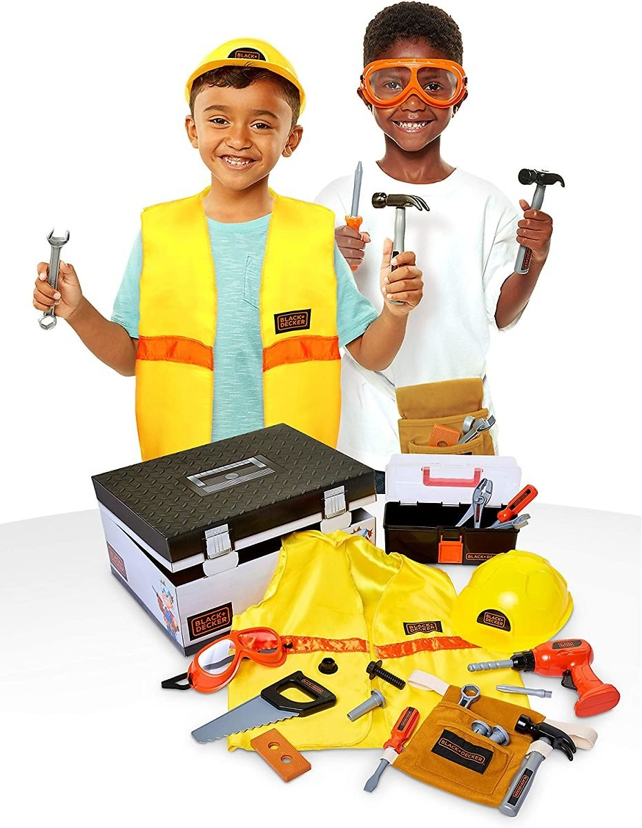 BLACK+DECKER Construction Dress Up Trunk, 22-Piece Included (Amazon Exclusive)