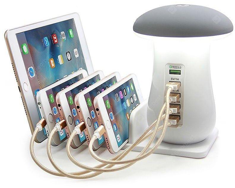 5-port USB Charging Holder White EU Plug Chargers & Power Adapters Sale, Price & Reviews | Gearbest
