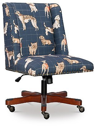 Linon Draper Dog Print Office Chair
