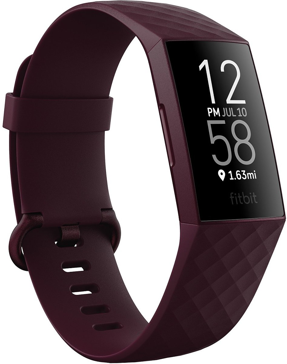 Fitbit Charge 4 Rosewood Band Touchscreen Smart Watch 22.6mm