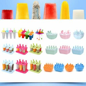 ☆Free Shipping☆4/6/8 Cell Ice Cream Mold Juice Frozen Popsicle Maker DIY Ice Lolly Mould Tools