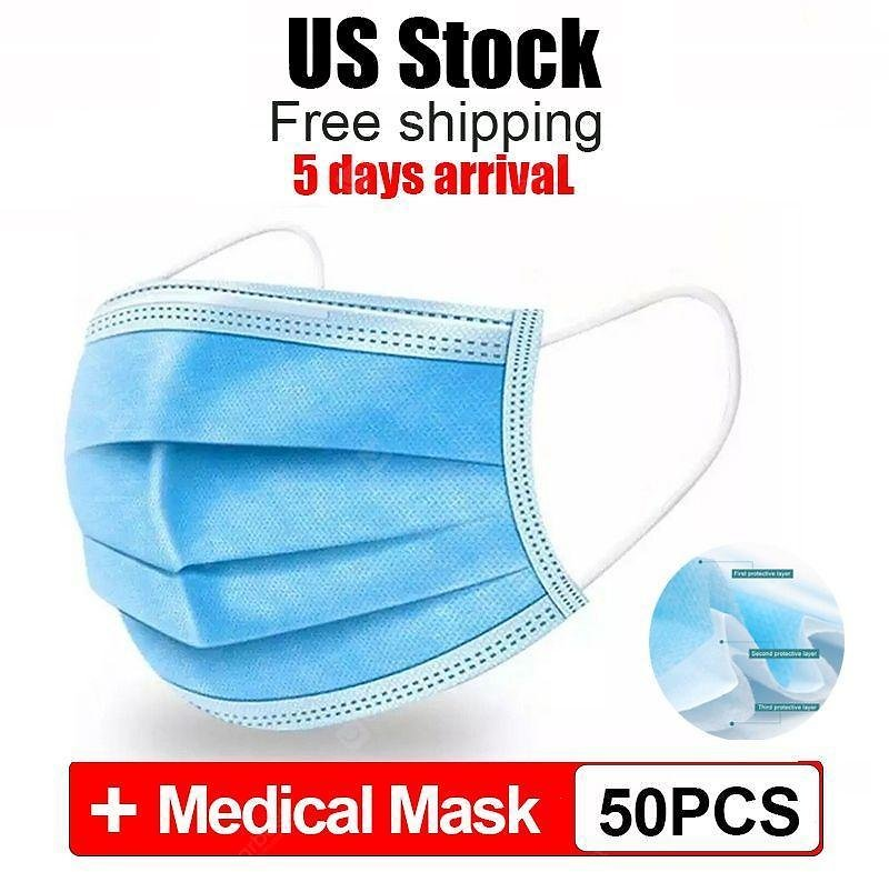 50pcs CE Disposable Medical Mask Anti-dust Safe Breathable Face Dental 3 Ply Earloop Mouth Masks Sale, Price & Reviews | Gearbest