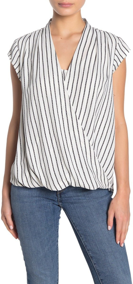 Halogen | Surplice Cap Sleeve Blouse (Regular & Petite) | Nordstrom Rack