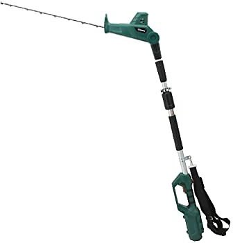 DOEWORKS 40V Li-ion Cordless Electric Battery Powered 2-in-1 Pole Hedge Trimmer with Rotating Handle