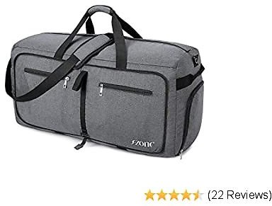 S-ZONE 85L Large Foldable Travel Duffle Sport Gym Weekender Bag Shoe Compartment