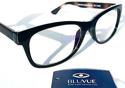 BLUE LIGHT Blocking FASHION Reader Computer Gaming Glasses SLATED BLACK Tortoise