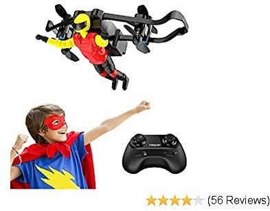 Mini Drone, Tomzon U48B RC Stunt Doll with Paraglider Flight, One Key Demo, Altitude Hold RC Quadcopter, Nano Drone for Kids and Adults (Red)