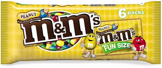M&M's M&M'S Peanut Chocolate Candy Fun Size Pouch Pack, 3.74 Oz 6 Pack - Big Lots