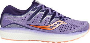 Saucony Triumph ISO 5 Womens Running Shoes Purple Cushioned Supination Trainers