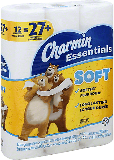 12-Pack Charmin Toilet Paper Giant Rolls + Extra 20% Off