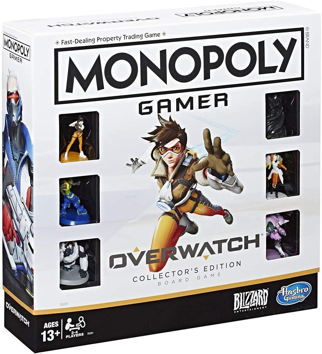 Monopoly Gamer Overwatch Collector's Edition Board Game for Ages 13 and Up Gift for Overwatch Players