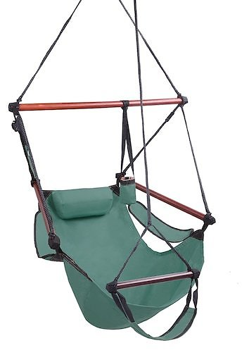 Hammock Hanging Sky Chair Air Deluxe Swing Seat S-shaped Hook High Strength Assembled Indoor Outdoor Hanging Seat