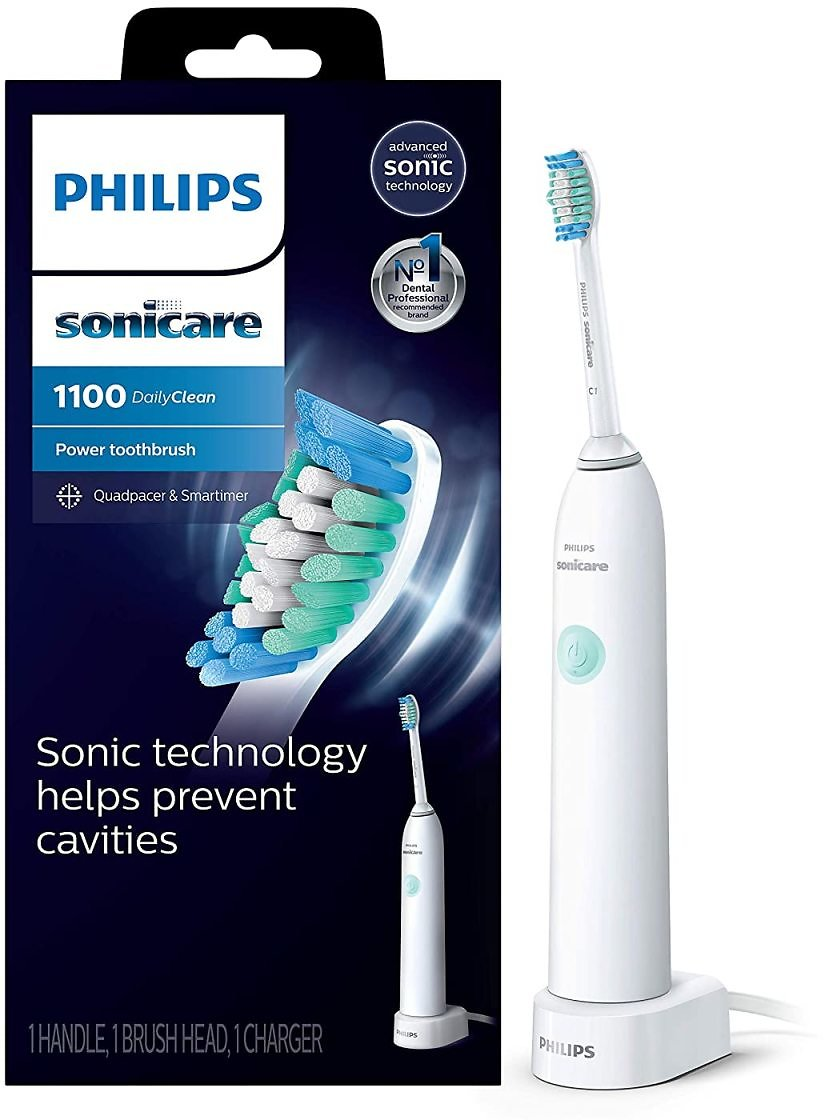 Philips Sonicare DailyClean 1100 Rechargeable Electric Toothbrush, White
