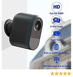 50% Off LOYLOV Wireless Home Security Camera, WiFi IP Camera System with 6000 MAh Rechargeable Battery $75.99