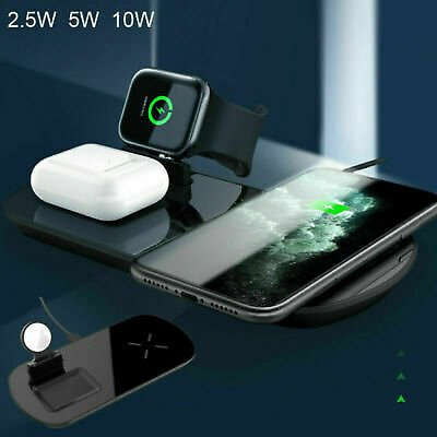 3-in-1 PD Fast Charging Qi Wireless Charger Pad Dock For IPhone Apple Watch Pod