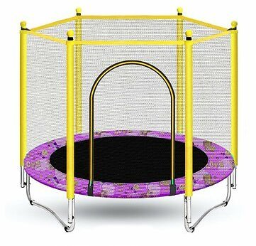 Mini Round Indoor Trampoline Child Playing Jumping Bed Enclosure Pad Exercise Tools Fitness Wellness from Sports & Outdoor on Banggood.com