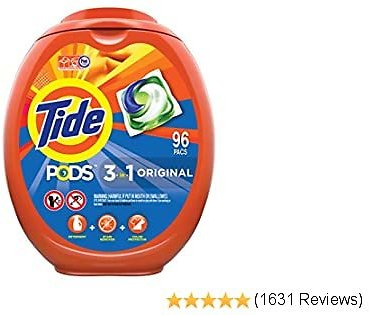 Tide PODS Laundry Detergent Liquid Pacs, Original Scent, HE Compatible, 96 Count (Packaging May Vary)