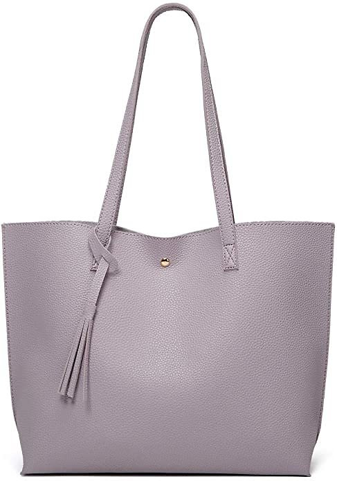 Women's Soft Faux Leather Tote Shoulder Bag from Dreubea