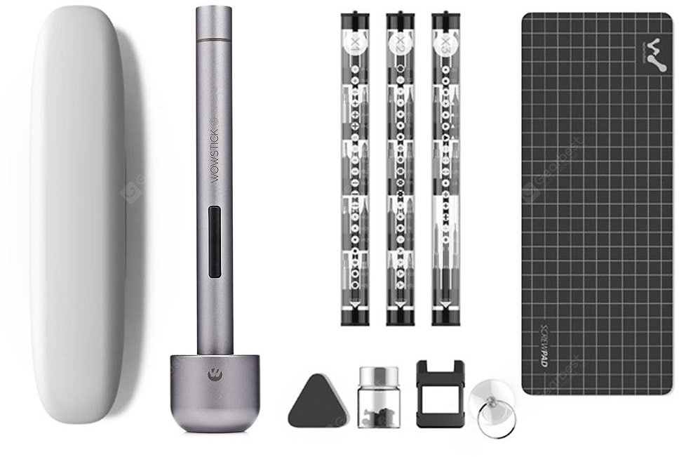 WOWSTICK Precision Screwdriver Kit Carbon Gray Electric Screwdriver Sale, Price & Reviews | Gearbest