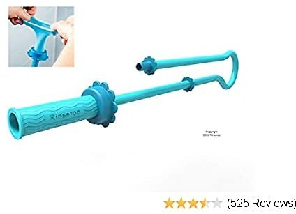Rinseroo: Slip-on, No-Install, Dog Wash Hose Attachment. Pet Bather for Showerhead and Sink. Handheld Shower Sprayer/Rinser. Fits Most Faucets. Universal 5 Foot Flex Hose. (Note: Tub Spout Warning)