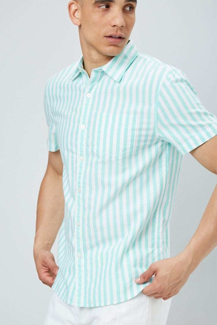 Pinstriped Fitted Oxford Shirt