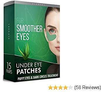 Aloe Vera Under Eye Patches – 15 Pairs - Puffy Eyes & Dark Circles Treatments – Look Less Tired & Reduce Wrinkles & Fine Lines Undereye, Revitalize & Refresh Your Skin - Cruelty Free & Vegan Eye Patch