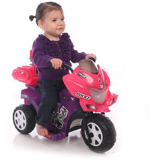 Kid Motorz Lil' Patrol 6-Volt Battery-Powered Ride-On (2 Colors) + F/S