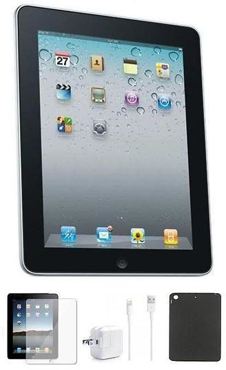 Apple IPad 3 (64GB, WiFi) with Case and Screen Protector Bundle