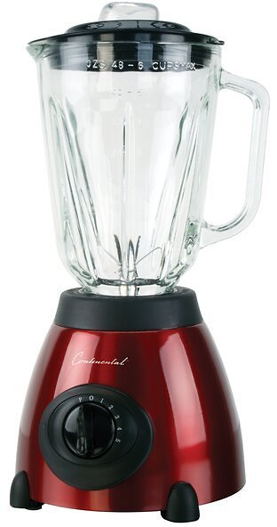 Continental Electric Powerful Motor Glass Countertop Blender