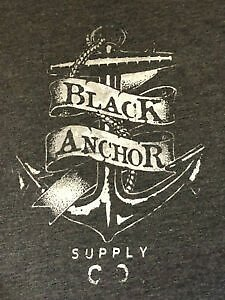 Black Anchor Supply Co. Graphic Tee T-Shirt Size XL - Extra Large - BLACK - NWOT