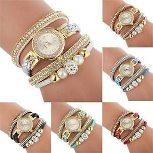 Fashion Women's Watch Crystal Alloy Analog Quartz Bracelet Dress Wrist Watches